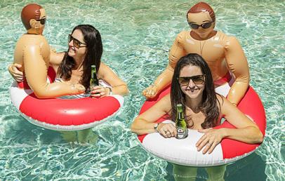 Inflatable Hunk Pool Float   Boyfriend Pool Float