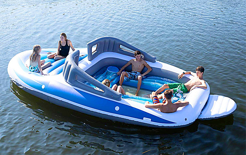 Inflatable Speed Boat | 6 Person Floating Island