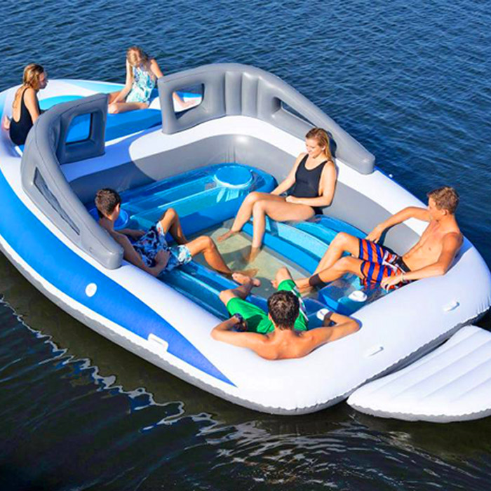 Extreme Inflatable Speed Boat 6 Person Floating Island Thesuperboo