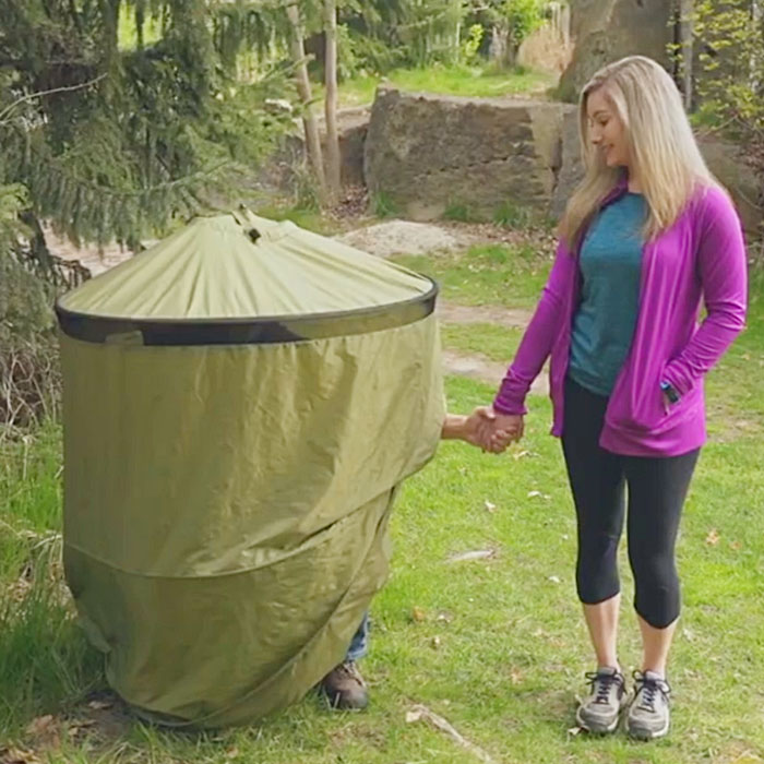 Backpack Portable Toilet Amp Privacy Shelter System