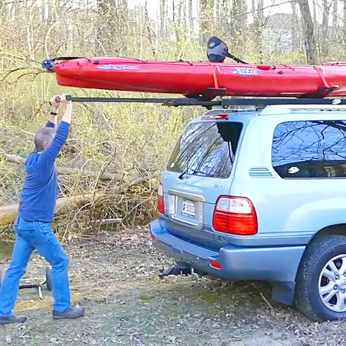 kayak roof rack loader for car