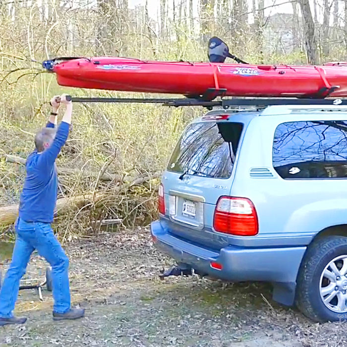 kayak roof rack loader for car