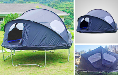 Best Trampoline Tent Cover | Kids Backyard Camp Out Adventure