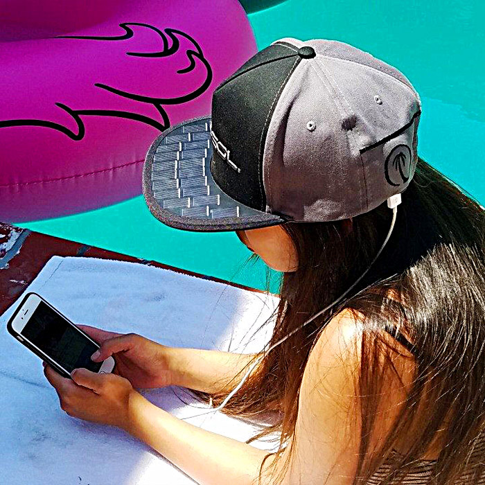 SOLSOL Solar Charging Hat - Phone Charging Solar Panel Hat