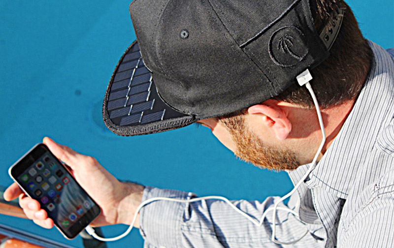 Solar Charging Hat | Solar Panel Phone Charger Cap | SOLSOL