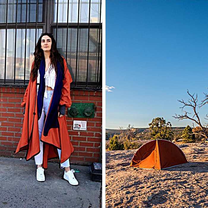 wearable tent