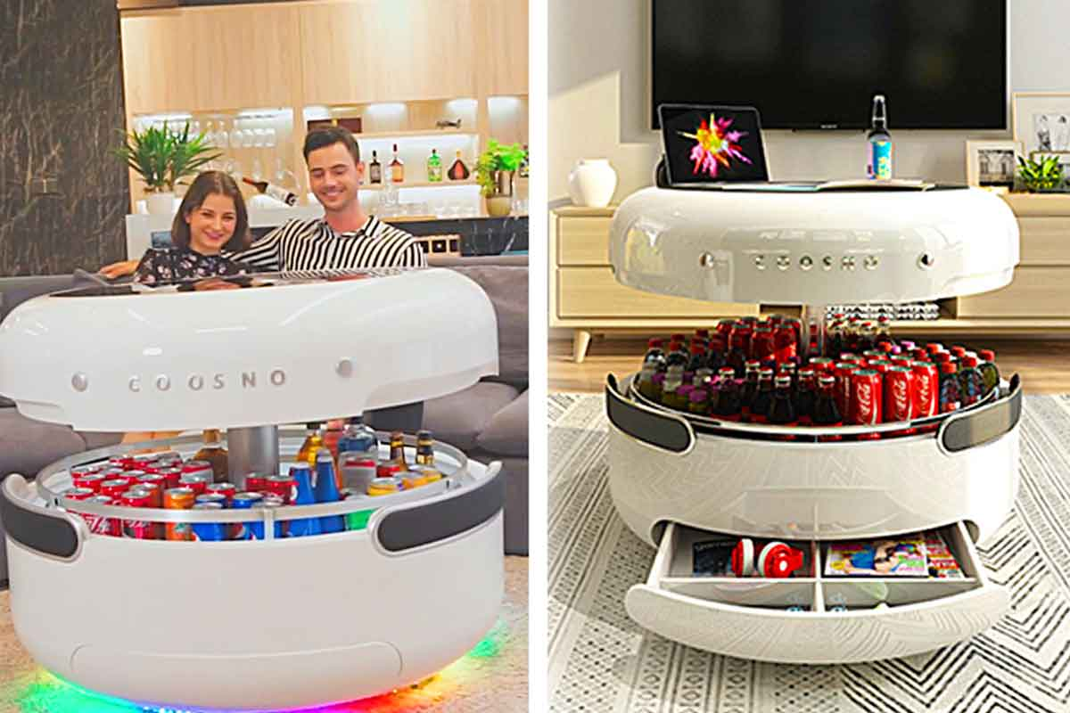 Coosno | Futuristic Coffee Table With Smart Features ...