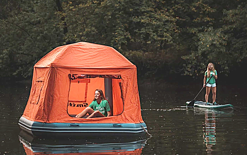 Extreme Floating Tent Camping On Water | Shoal Tent