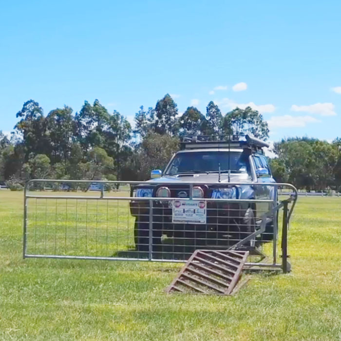 Gate Powered By The Weight Of a Car Oz Autogate