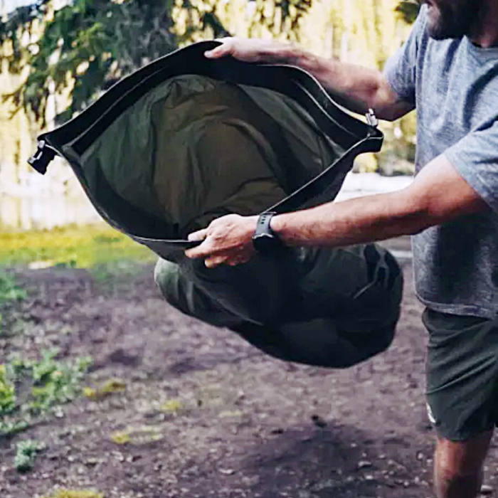 """This uniquely designed lightweight & inflatable pack raft is prefect for camping, exploring, and even survival. The Rapid Raft is the lightest and most packable raft created by the company called Uncharted Supply Co. Military grade construction of this packpack-friendly raft can comfortably holds up to 400 lbs of weight. Unlike other pack rafts, It doesn't require any tools to inflate the raft. And in less then 30 seconds, anyone can easily inflate this unique raft to use it on water. Extremely Lightweight & Inflatable Pack Raft: This ultralight packraft only weights 30 lbs and measures 5' x 5' x 15' in folded position. So it will perfectly fit in your backpack and you can easily carry around the raft wherever you go. The Uncharted Rapid Raft made from the coated polyurethane fabric. It also features inflation tube, roll closure and buckles to inflate the raft without any inflation devices. These two person packrafts are comes in tow different colors to chose from such as olive and red. Once you completely inflate the raft, it measures 72"""" in length and 33"""" in width. This lightweight & inflatable pack raft is ideal for quick water crossing, fishing, hunting, camping on lake side and even rescue people from flooding. You can also use this multi functional raft as a shelter and a sleeping bag. The Uncharted Rapid Raft is particularly designed for rapid deployment and re-packing to quickly cross waterways. It almost completely inflate using their quick fill technology. And it also comes with a top off valve that helps you to make sure the raft is at the perfect inflation level. Check the Uncharted Rapid Raft on Indiegogo.com! Watch the Lightweight & Inflatable Pack Raft in action down below:"""