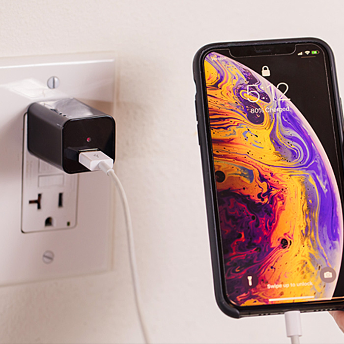 Phone Charger Security Camera