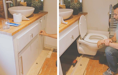 Retractable Toilet Seat | Hide The Foldable Toilet On The Wall