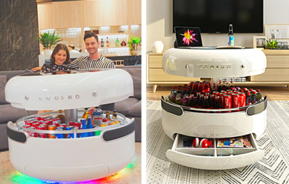 Smart Coffee Table With Refrigerator | Coosno