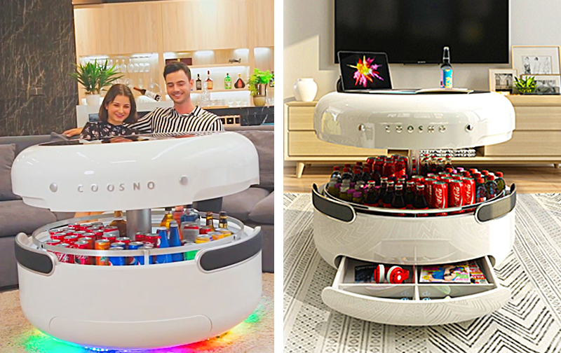 Smart Coffee Table With Refrigerator   Coosno