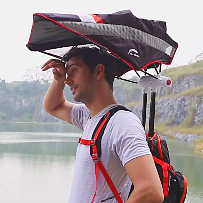 Backpack with Retractable Umbrella