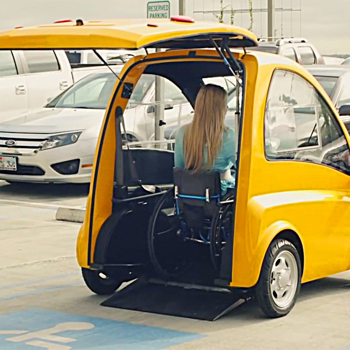 Electric Mobility Car For Wheelchair Users