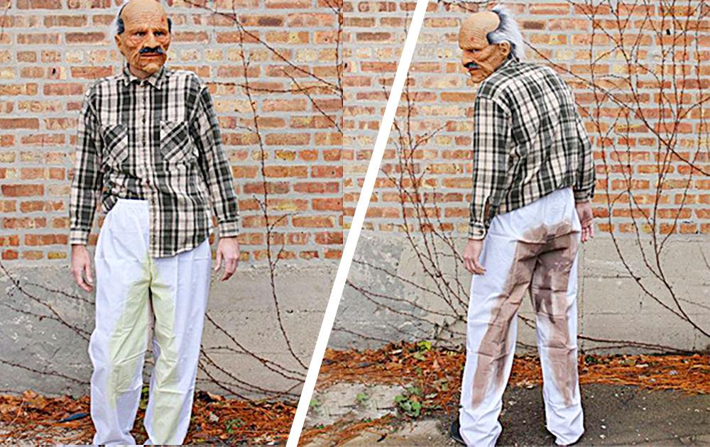 Funny Pee & Poo Pants Costume Weirdest Pre-Soiled Pants