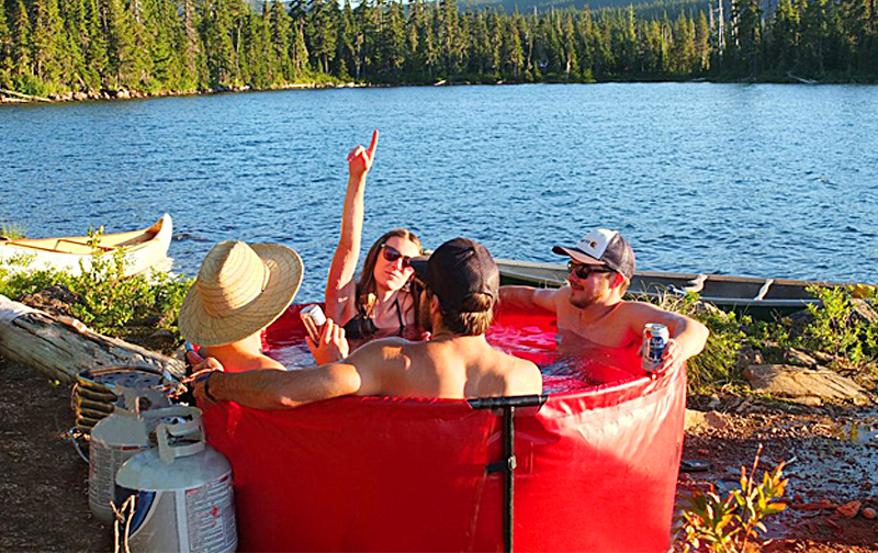 Portable & Collapsible Hot Tub For Camping   Nomad