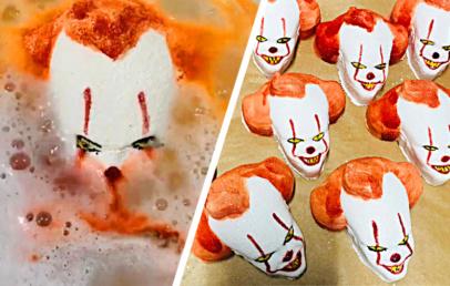 Spooky Pennywise Clown Bath Bomb   Halloween Bath Bombs