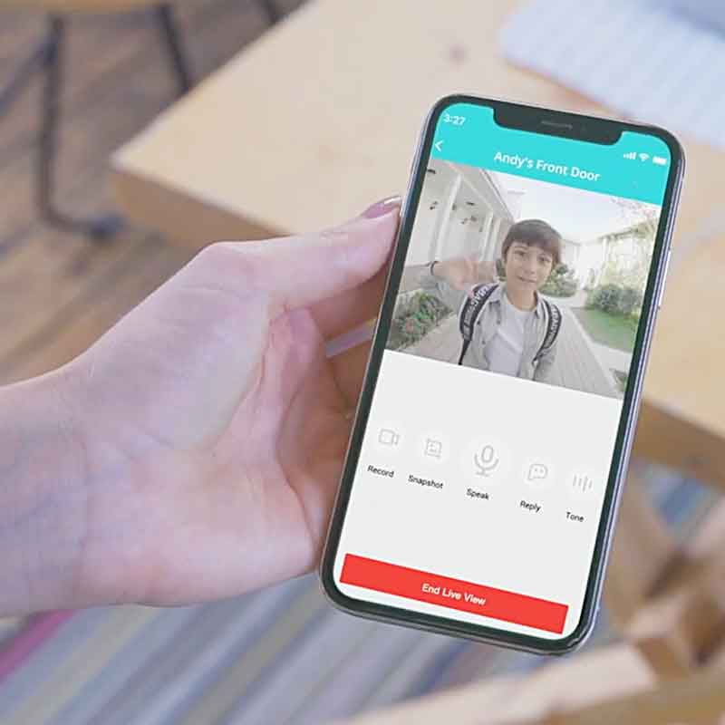 Answer Your Door From Anywhere With Smart Video Doorbell