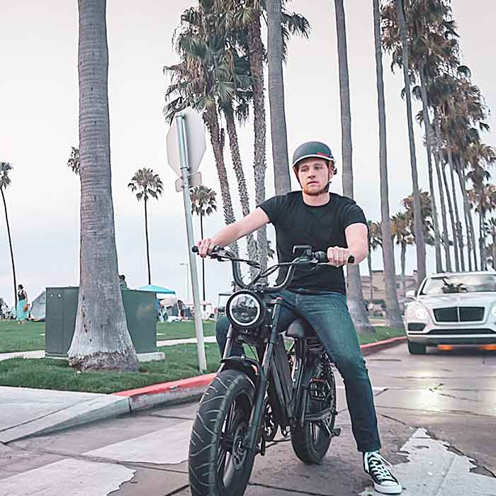Modern Electric Retro Bike