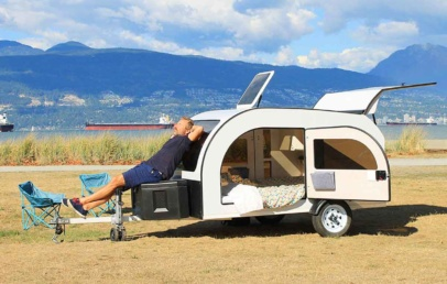 This Teardrop Camping Trailer Inspired By Scandinavian | Droplet