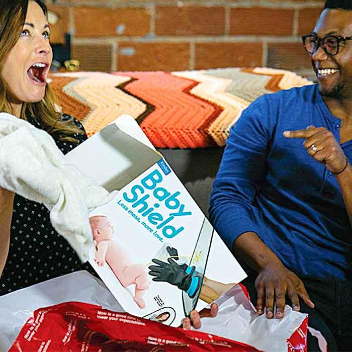 The baby shield funny present box