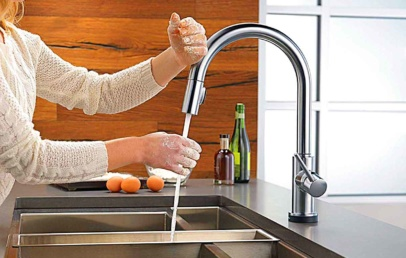 Delta Trinsic Voice Activated Faucet For Hands-Free Access To Water