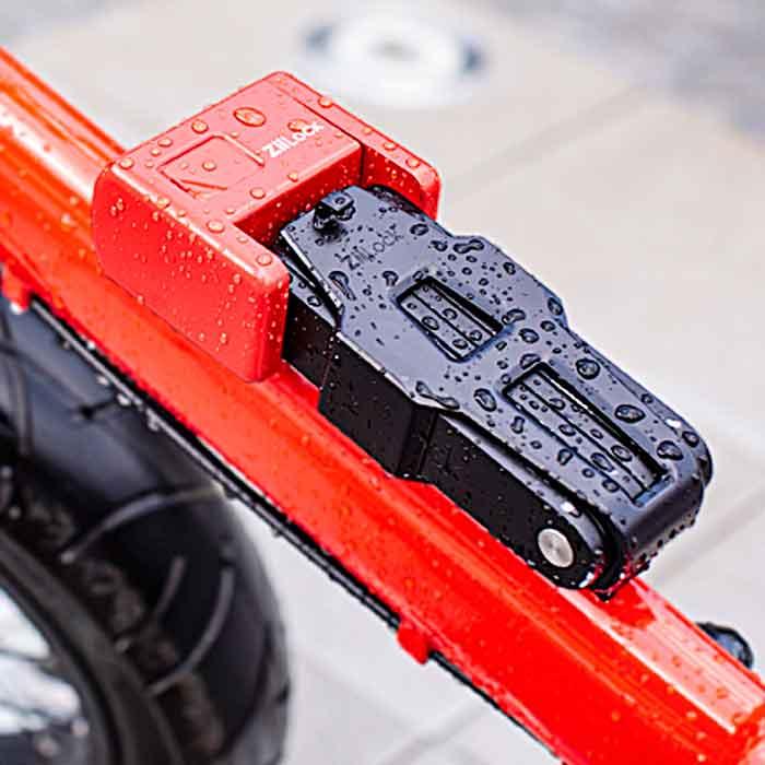 Folding Biometric Bike Lock