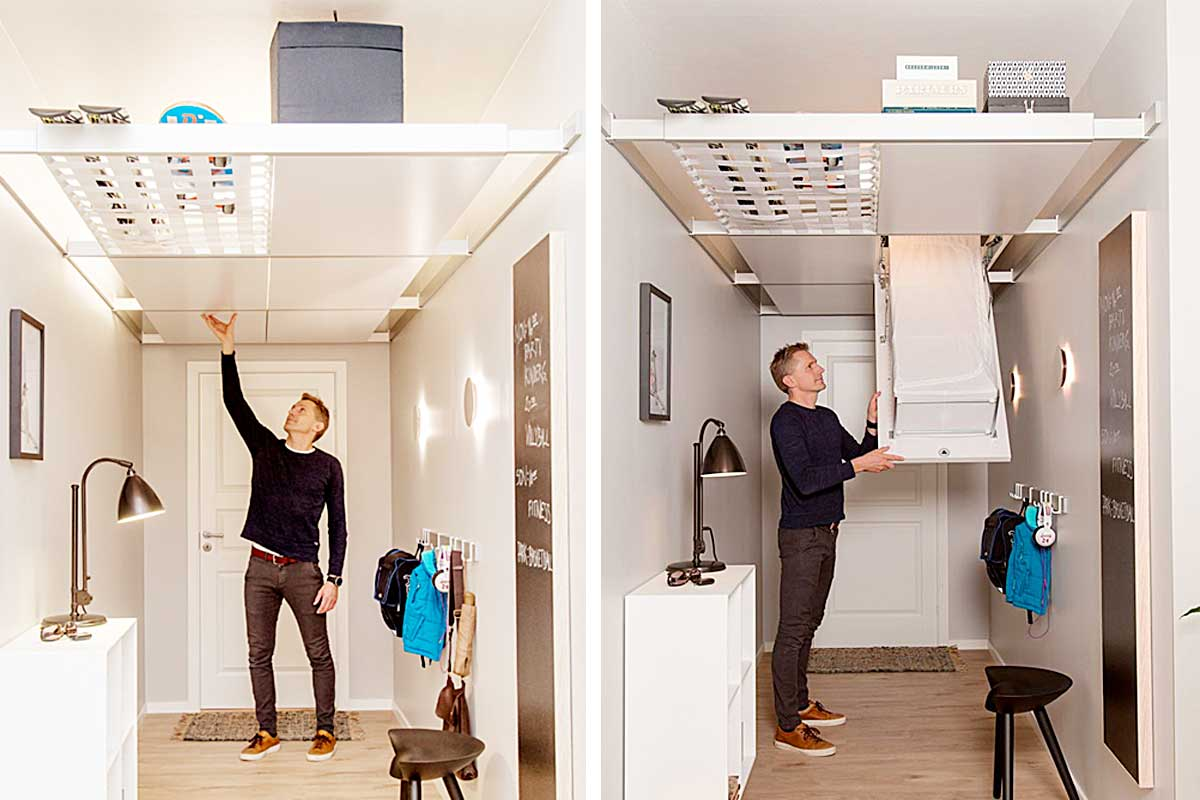Maximize Your Space With This Ceiling Storage System   BEAM-IT-UP
