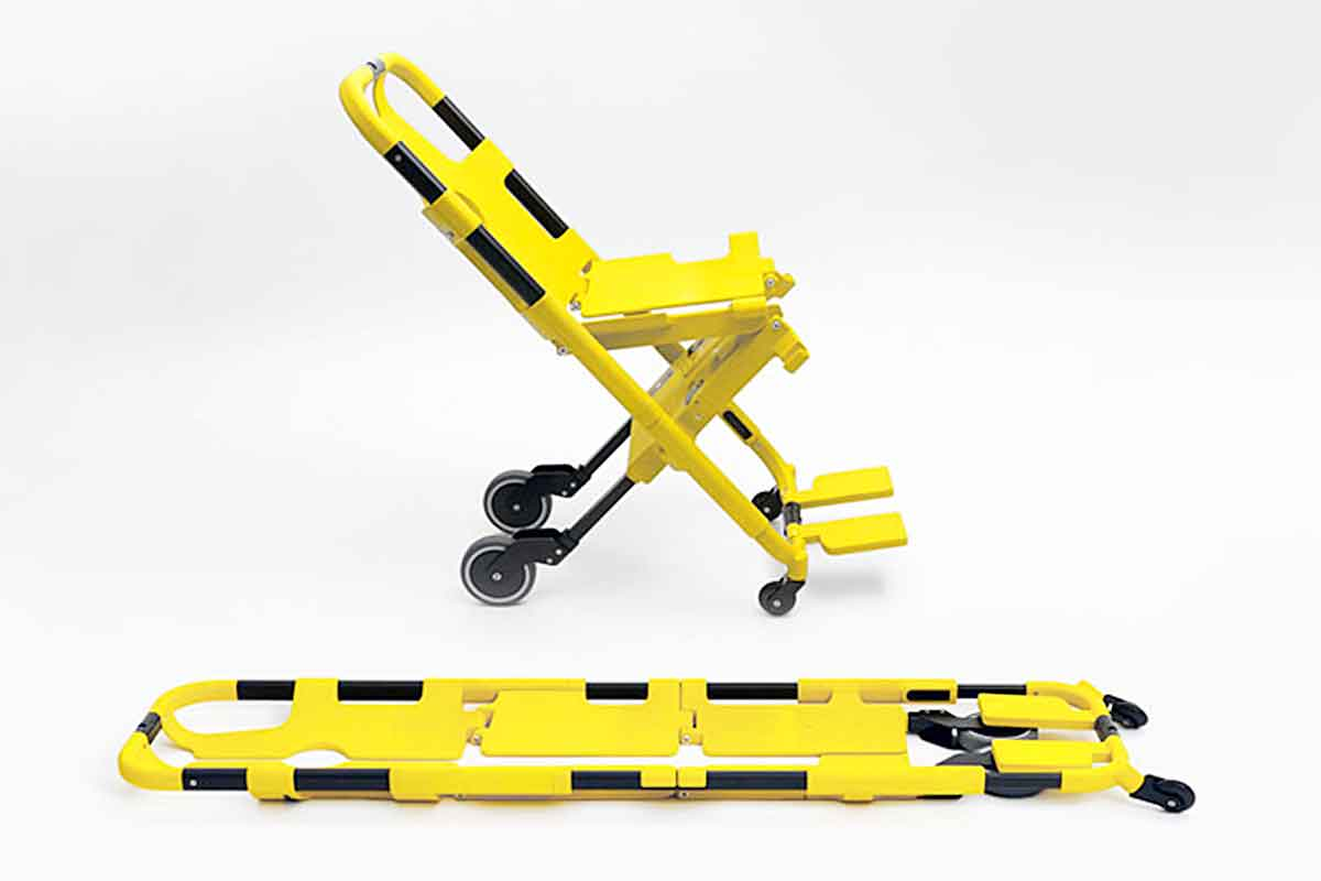 Scoop Stretcher That Turns Into a Wheelchair   Multi Scoop Pro