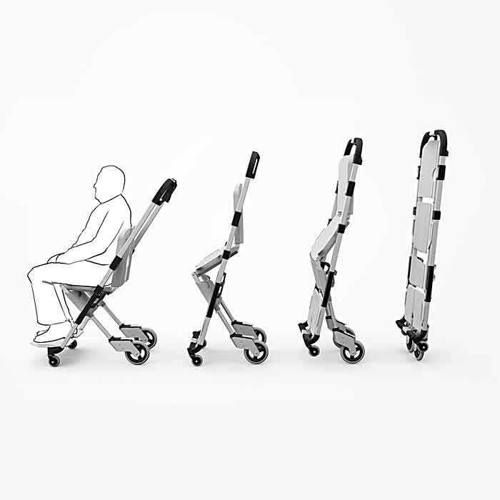 Scoop Stretcher That Turns Into a Wheelchair