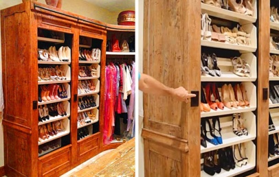 This Auto Rotating Shoe Rack Maximize Your Closet Space