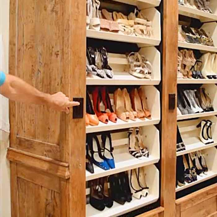 ncredible Custom Auto-Rotating Shoe Racks For Your Closet