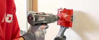 Quadsaw Drill Attachment | Drill a Square Holes In Drywall Within 10 Seconds