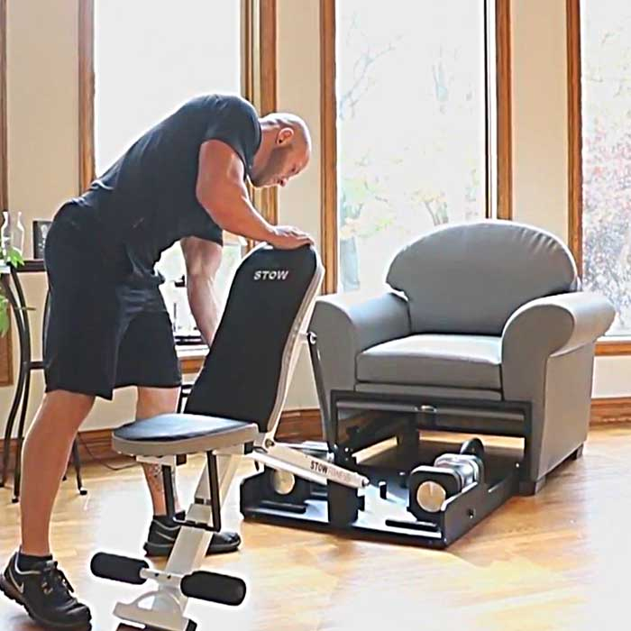 The Fold-Away Weight Bench Furniture