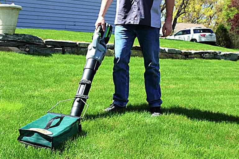 Lawnch- It leaf blower attachment