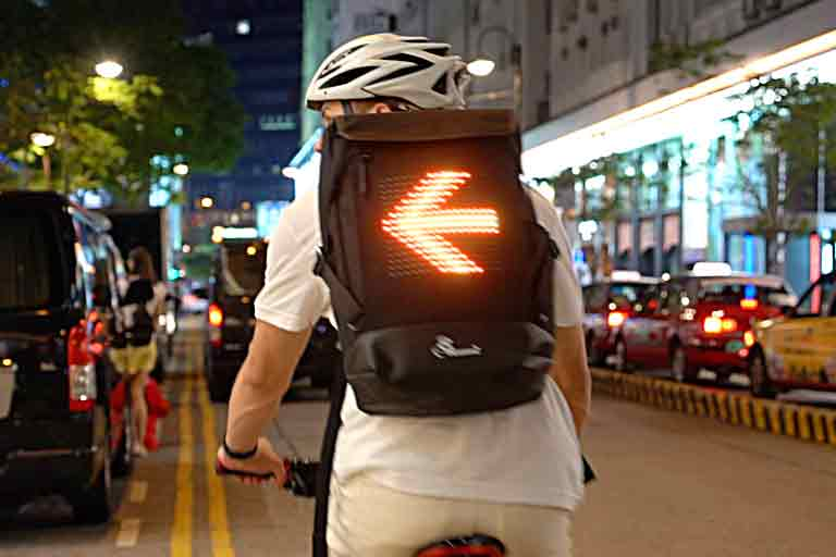 Bluetooth-Enabled Cycling Backpack