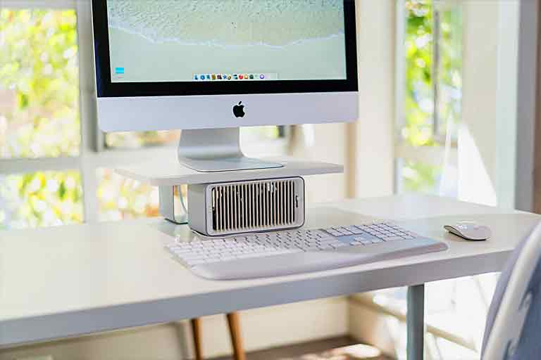 Wireless Monitor Stand With Desk Fan
