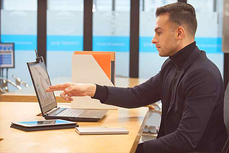 GLAMOS Creates a Virtual Touch Screen