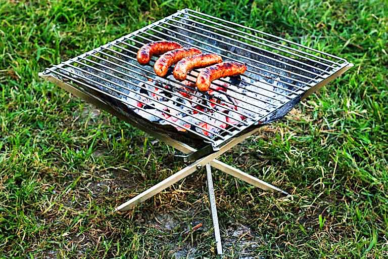 Portable Folding Fire Pit & Grill