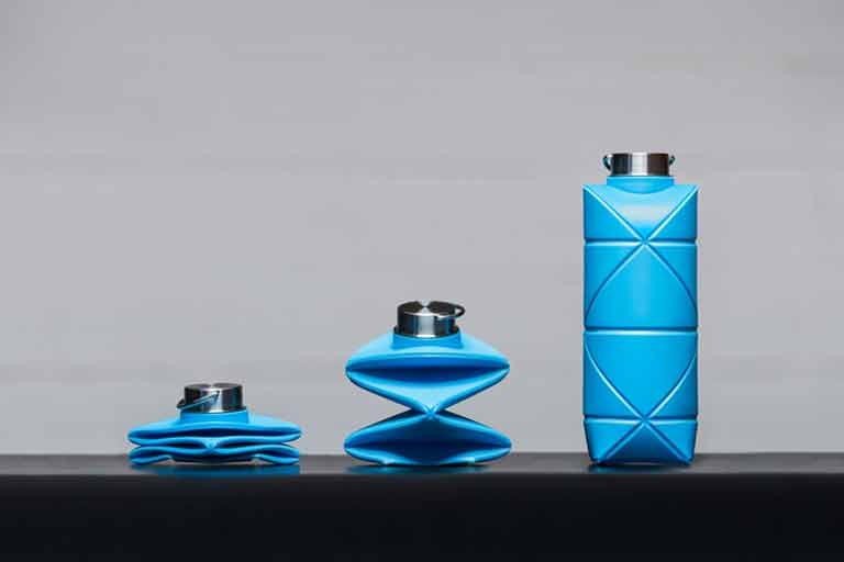 Origami-Inspired-Collapsible-Water-Bottle