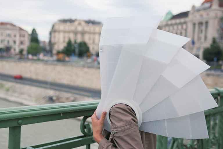 Wearable Exoskeleton Umbrellas