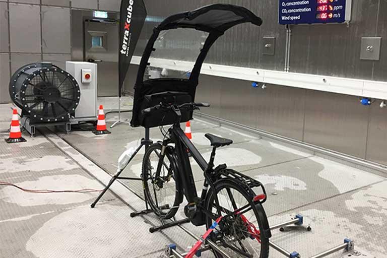 A Pop-Up Umbrella for bicycles
