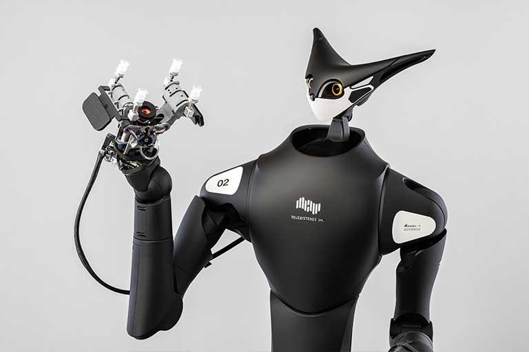 VR-controlled robot shelf-stacker