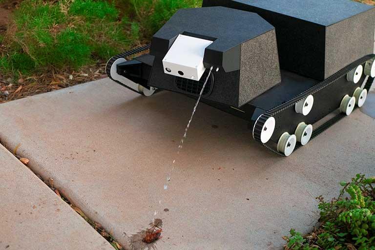 AI powered yard robot
