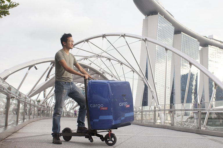 2-in-1 cargo folding e-scooter
