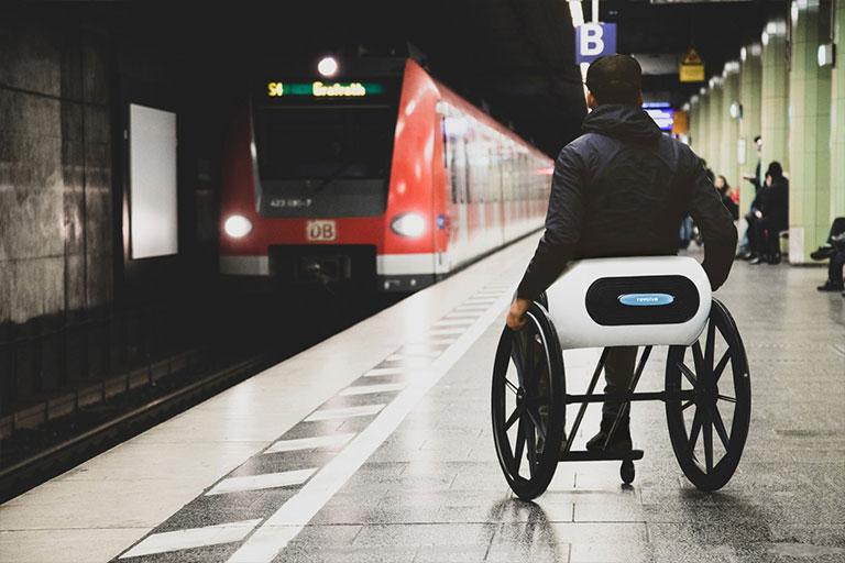 Folding wheelchair prototype from Revolve Air