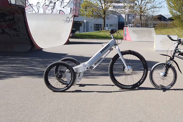 electric trike that feels much like riding a Jet Ski