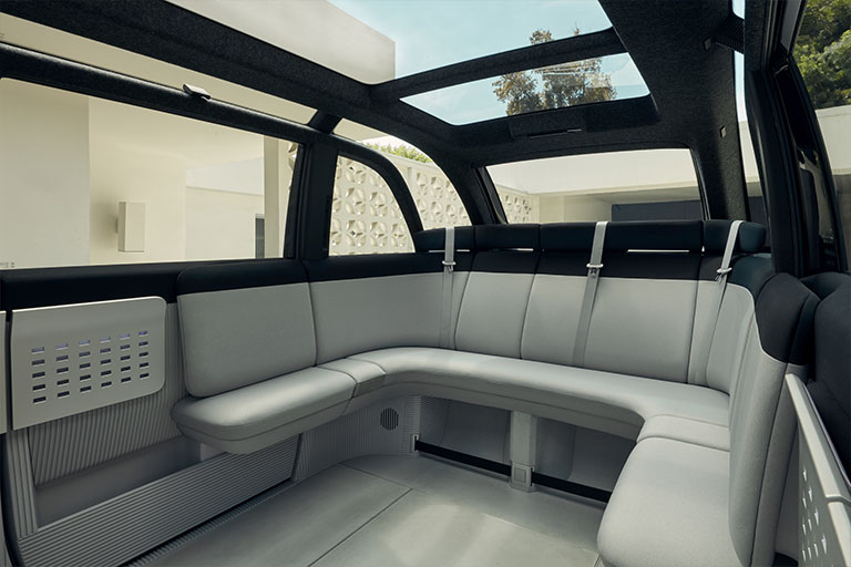 Without the need for an engine compartment it features tons of interior space